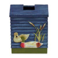 Bacova Live Love Lake Tissue Box Holder in Green/Blue