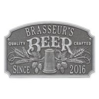 Whitehall Products Craft Beer Tavern Plaque in Pewter/Silver
