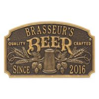 Whitehall Products Craft Beer Tavern Plaque in Bronze/Gold