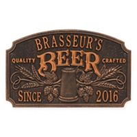 Whitehall Products Craft Beer Tavern Plaque in Oil Rubbed Bronze