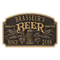Whitehall Products Craft Beer Tavern Plaque in Black/Gold