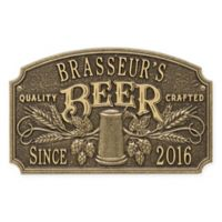 Whitehall Products Craft Beer Tavern Plaque in Antique Brass