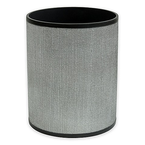 image of Bacova Peyton Wastebasket in Grey