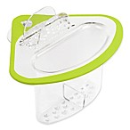 Spectrum Cora™ Sink Corner Caddy in Lime