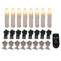 LED Candle Lamps with Remote Control (Set of 8)