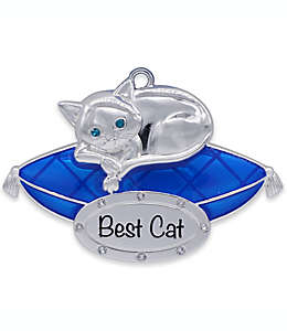Adorno colgante con figura de gato