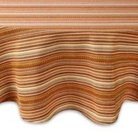 Sam Hedaya Avery Stripe 70-Inch Round Tablecloth in Spice