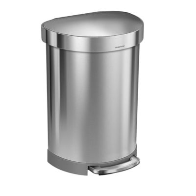 simplehuman semiround 60liter stepon trash can with liner rim