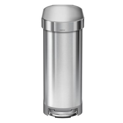 simplehuman slim 45liter stepon trash can with liner rim