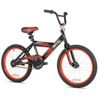 Kent Street Metal 20-Inch Boy's Bicycle in Black/Red