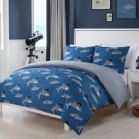LaLa + Bash Chomp 2-Piece Reversible Twin Comforter Set in Blue