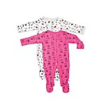 Rosie Pope® Size 6-9M 2-Pack Smart Cookie Footies in Pink