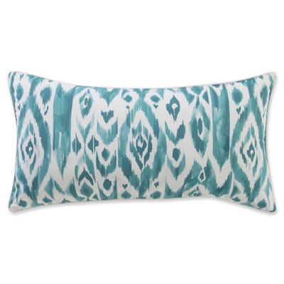 beach house brights bolster throw pillow in tealwhite