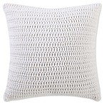 Beach House Brights Knit Square Throw Pillow in Ivory