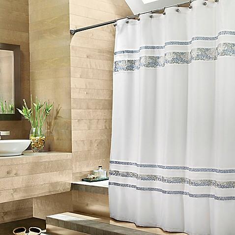 Croscillu00ae Spa Tile 70Inch W x 75Inch L Fabric Shower Curtain  buybuy BABY