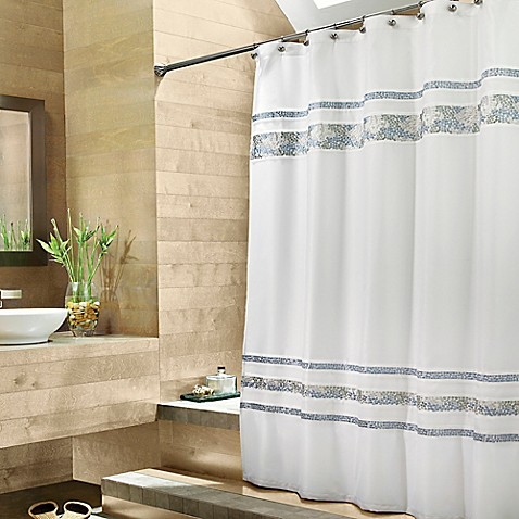 Croscill® Spa Tile 70-Inch W x 75-Inch L Fabric Shower Curtain ...