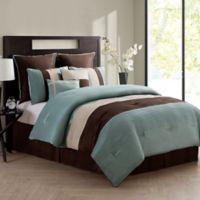 VCNY Home Essex 8-Piece Queen Comforter Set in Aqua
