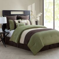 VCNY Home Essex 8-Piece King Comforter Set in Green
