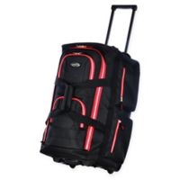 e1e57376c7f6 Olympia® 22-Inch 8-Pocket Rolling Duffle in Black Red