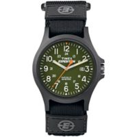Timex® Expedition® Men's 40mm Acadia Green Dial Watch in Black Resin w/Black Nylon Strap