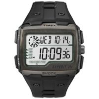 Timex® Expedition® Men's 50mm Grid Shock Watch in Black Resin w/Black Silicone Strap