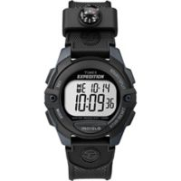 Timex® Expedition® Men's 41mm Digital Watch in Black Resin w/Black Silicone Strap