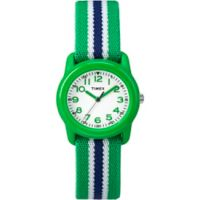 Timex® Time Machines Children's 29mm Watch with Green/Blue Nylon Strap
