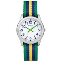 Timex® Time Machines Children's 30mm Watch with Green/Blue/Yellow Nylon Strap