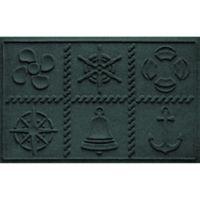 Weather Guard™ Nautical Grid 24-Inch x 36-Inch Door Mat in Evergreen