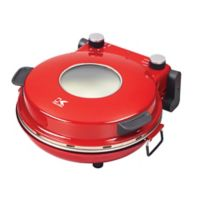 Kalorik High-Heat Stone Pizza Oven in Red