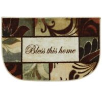 Mohawk Home Rules to Live By 1-Foot 8-Inch x 2-Foot 6-Inch Multicolor Slice Accent Rug