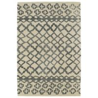 Kaleen Casablanca Tribal 2-Foot x 3-Foot Accent Rug in Grey