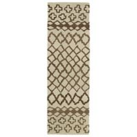 Kaleen Casablanca Tribal 2-Foot 6-Inch x 8-Foot Runner in Brown