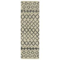 Kaleen Casablanca Tribal 3-Foot x 10-Foot Runner in Grey