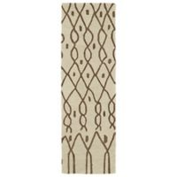 Kaleen Casablanca Impressions 2-Foot 6-Inch x 8-Foot Runner in Ivory