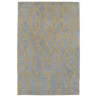 Kaleen Casablanca Impressions 4-Foot x 6-Foot Area Rug in Light Blue