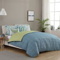 Seedling by ThomasPaul® Synthesize 5-Piece Reversible Twin Duvet Cover Set in Aqua