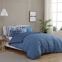 Seedling by ThomasPaul® Synthesize 5-Piece Reversible Twin Duvet Cover Set in Navy