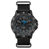 Timex® Expedition® Men's 44mm Gallatin Watch in Black Resin w/Black Nylon Slip Strap