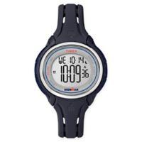Timex® Ironman® Sleek 50 Ladies' 38mm Watch with Dark Blue Silicone Strap