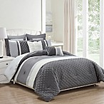 Kensie Somali 8-Piece Queen Comforter Set in Grey