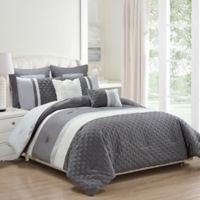 Kensie Somali 8-Piece King Comforter Set in Grey