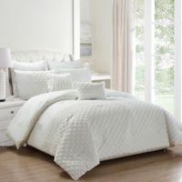 Kensie Somali 8-Piece Queen Comforter Set in White