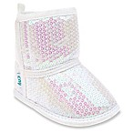 Capelli New York Size 0-6 Months Allover Sequin Slipper Boot in Iridescent