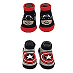 Marvel® Size 0-12M 2-Pack Captain America Booties