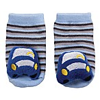 Cuddl Duds® Newborn Stripe Car Rattle Socks in Blue