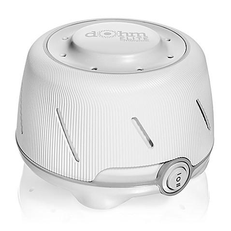 Marpac Dohm Elite White Noise Machine In White Grey Bed