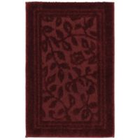 Mohawk Home Wellington 2-Foot 6-Inch x 4-Foot 2-Inch Bath Rug in Red