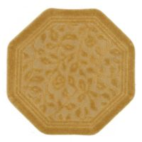 Mohawk Home Wellington 4-Foot x 4-Foot Octagonal Bath Rug in Gold