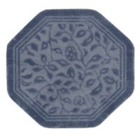 Mohawk Home Wellington 4-Foot x 4-Foot Octagonal Bath Rug in Blue